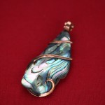 21.5 ct. Mexican Abalone Natural Art Wrap Pendant